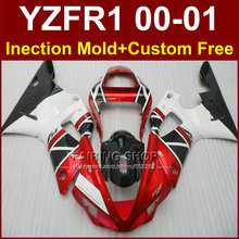 Buy YZF R1 00 01 Injection mold Motorcycle fairings Yamaha YZFR1 red white fairing kit 2000 2001 yzf 1000 body parts +7gifts for $367.08 in AliExpress store
