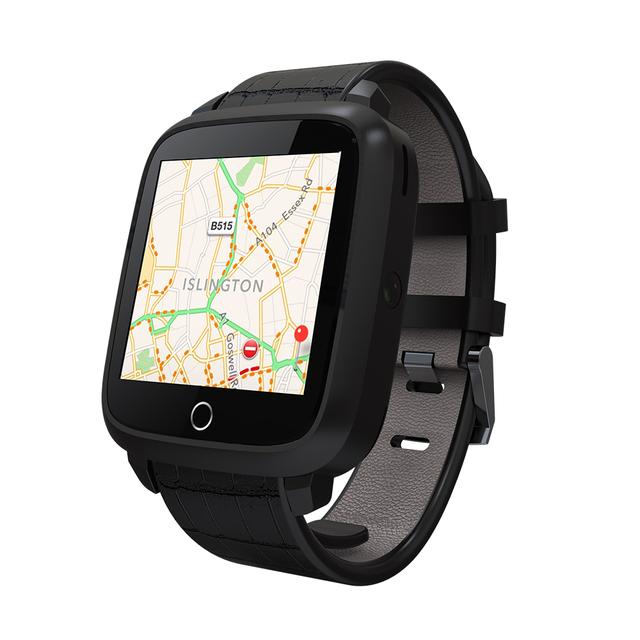 FLOVEME Мода GPS Smart Watch Android 5.1 OS Bluetooth Браслет Кожаный Ремешок Наручные Часы Heart Rate Monitor Часы