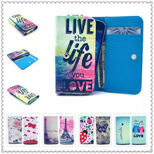 2016 PU Leather Protection Phone Case 20 Painting Card Wallet Samsung Rex 80 S5222R,GT-S5222R - 3C Factory store