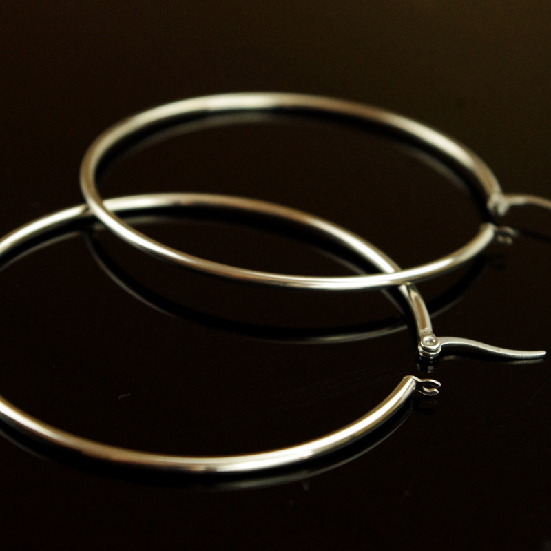 70MM Stylish Nickle Round Hoop Earrings Women Loop Celebrity Brand Office Party Gifts Bijoux Fashion Jewelry Gifts E025B(China (Mainland))