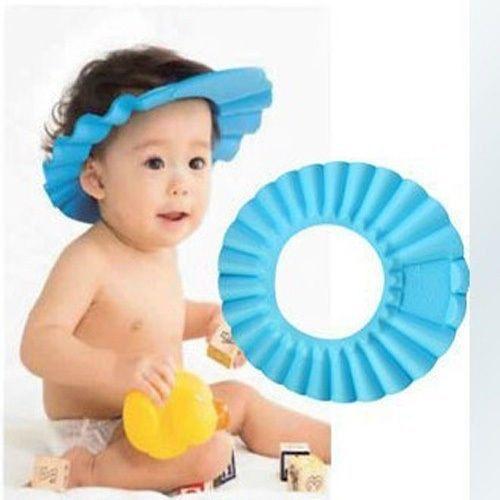Soft Adjustable Shower Shampoo Cap Baby Kids Children Bath Hat Wash Hair Shield(China (Mainland))