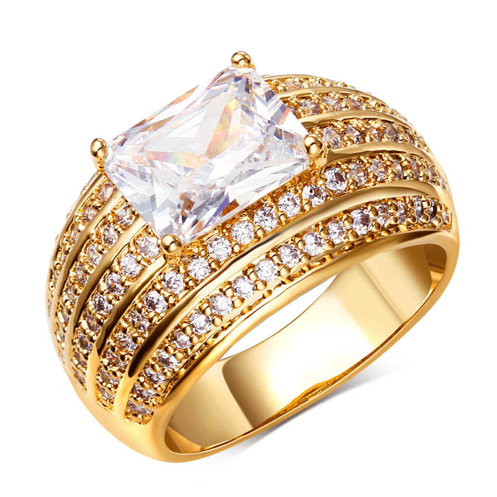 18k Gold Jewelry Ring Costume Jewelry Supplies For Party