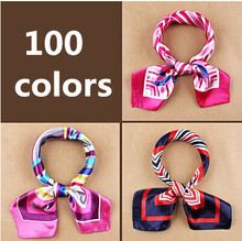 New fashion women's Work wear silk scarf print satin square scarf hotel bank work wear scarf 60*60cm 100 colors(China (Mainland))
