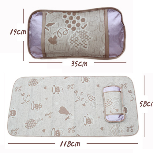 2015 new Fashion baby summer mat & pillow sets, Ice Slik comfortable children bed sleeping products(China (Mainland))