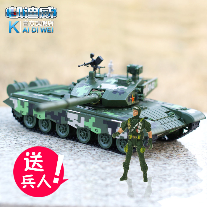 1:35 Chinese military model 99 main battle tanks armored combat vehicles finished alloy metal ornaments(China (Mainland))