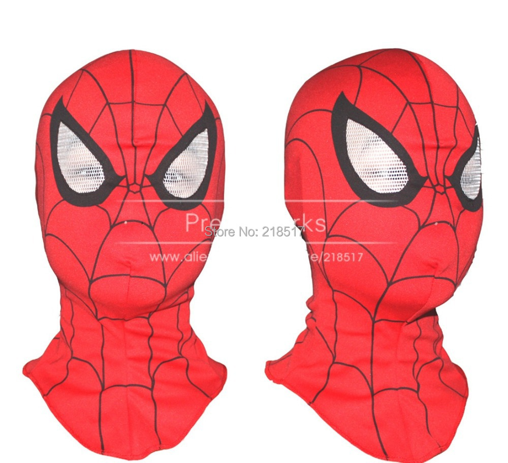 Free shipping New Adult and Kids Spider-Man Spider Man mask Spiderman hood Halloween Christmas Party Cosplay Costumes D-1525(China (Mainland))