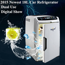 2015 Newest 18L Car Refrigerator Cooler Heater Car Fridge 12V Dual Use Insulin Travel Portable Refrigerator For The Car(China (Mainland))