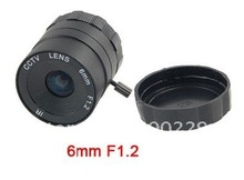 CS mount 6mm/F1.2 cctv lens fixed iris cctv lens for security cctv camera