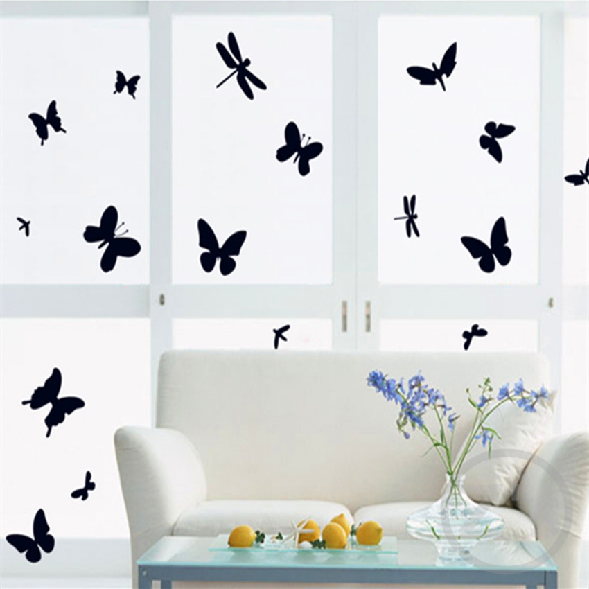 Butterfly on the wall sticker home decor diy adhesive art mural picture poster removable vinyl wallpaper AY7076(China (Mainland))