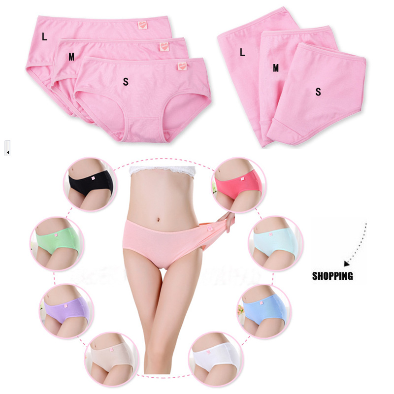 Candy Colors Women Underwear Solid Cotton Women Briefs Sexy Comfortable Women Underwear Drop Shipping WCIN301(China (Mainland))