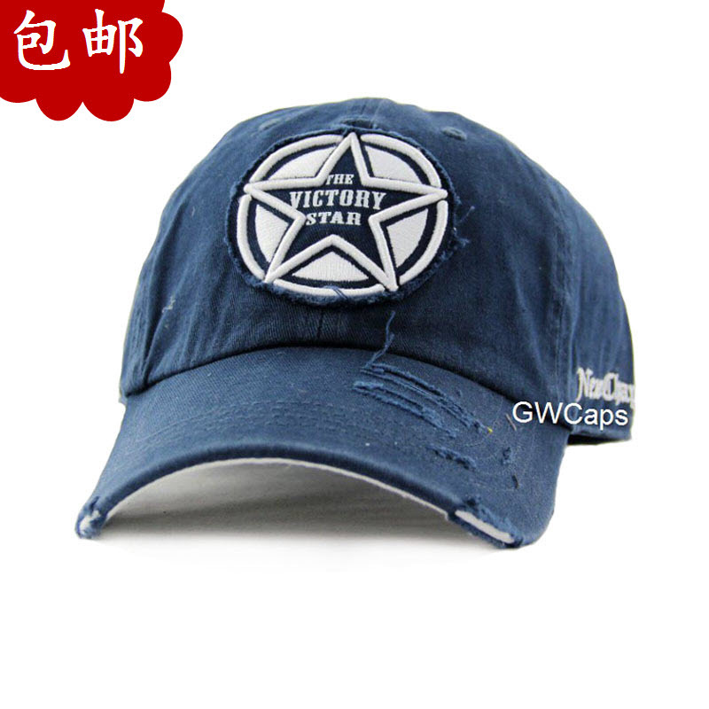 FREE SHIPPING Fashion red star autumn and winter baseball cap male women's popular hat the trend of fashion(China (Mainland))