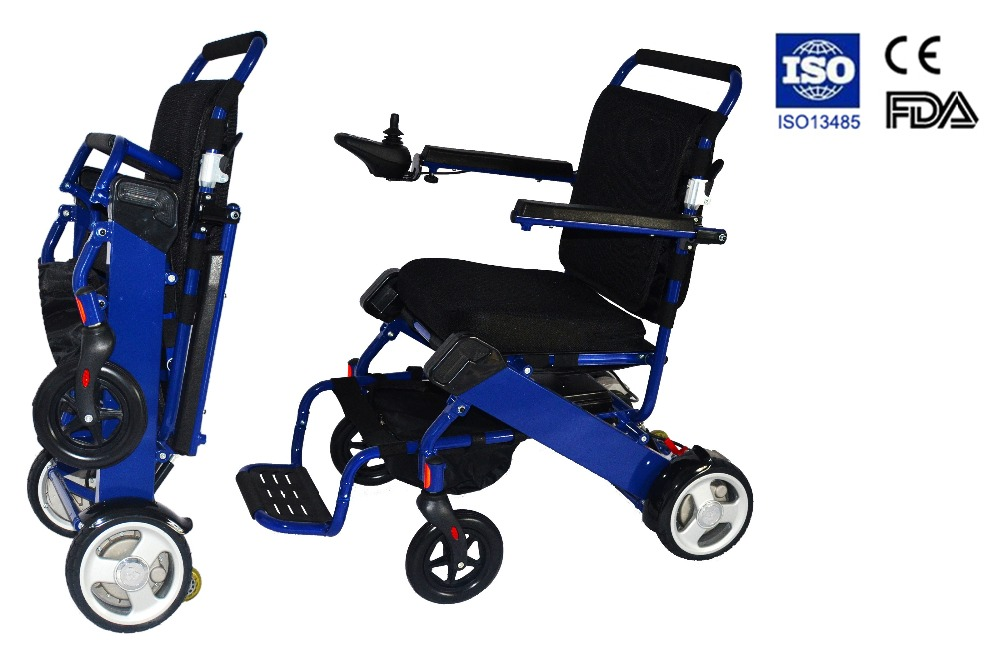 Folding lightweight power wheelchair factory in electric for Lightweight motorized folding wheelchair
