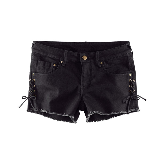 2015 Cotton Sale New Waist Shorts Womens Denium Short With Bandage Decoration In Sides And Five Bags For Freeshiping Wholesale(China (Mainland))