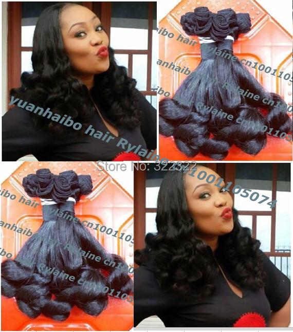 Top quality 6a grade 1b# 3pcs/lot 8-26 tip bouncy curl virgin peruvian aunty funmi hair for black women free shipping<br><br>Aliexpress