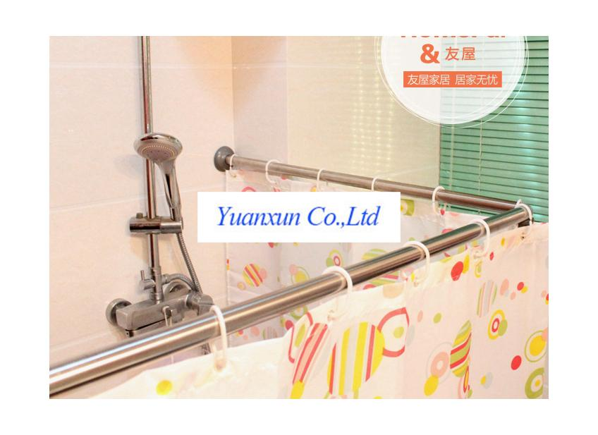 Bathtub shower curtain rod