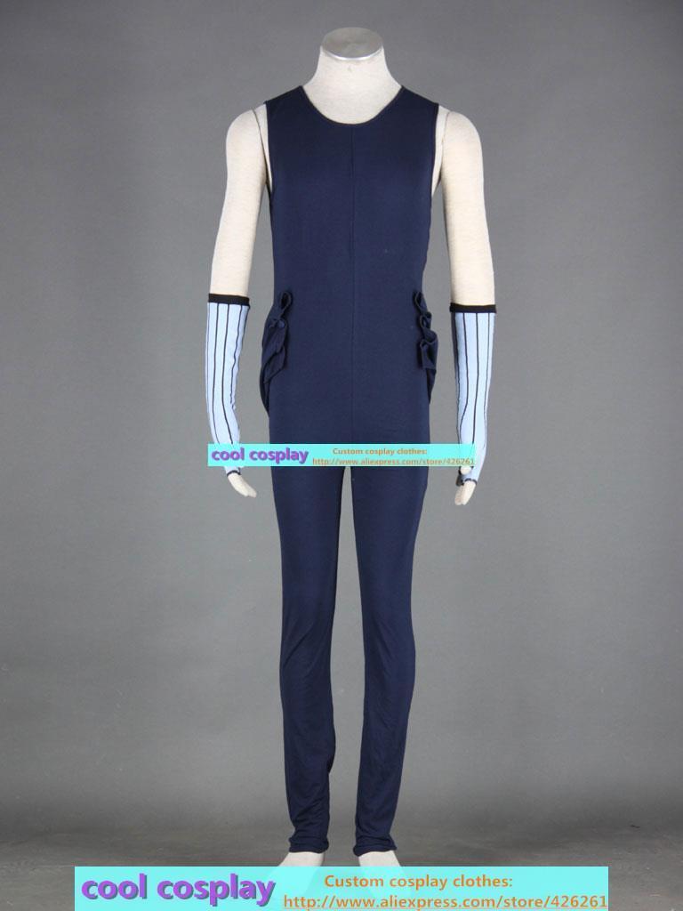 Naruto Momochi Zabuza Cosplay clothes men's clothing set: coveralls, gloves, special ninja shoes , headband, mask, white bandage