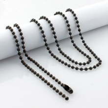 10pcs lot wholesale stainless steel ball chain necklaces for pendants DIY jewelry free shipping