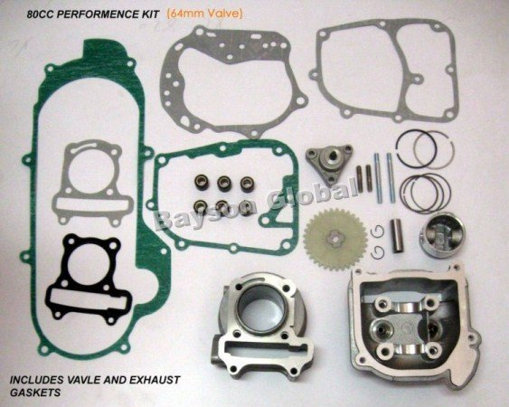 100cc Big Bore Kits 139QMB GY6 50cc Engine(64mm Valve) scooter parts @70002