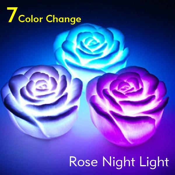 Wholesale 20pcs/lot Colorful LED Rose Flower Flashing ...