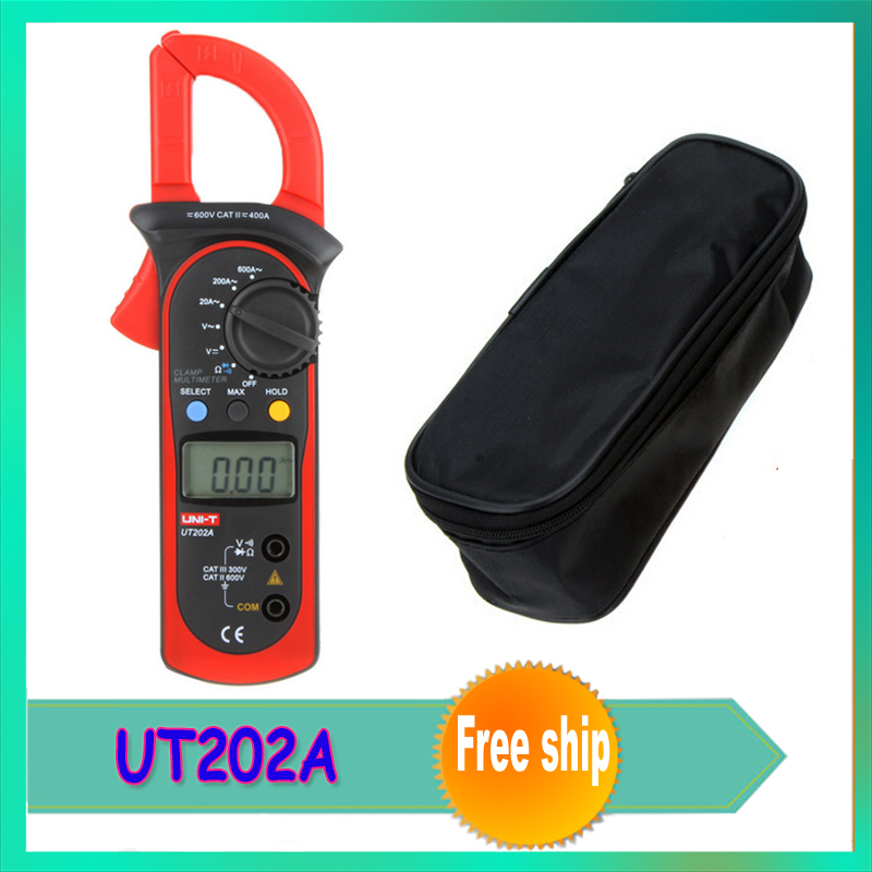 1pcs UNI-T UT202A LCD Digital Clamp Meter Multimeter Voltage Ampere Ohm Tester AC Current 600A Wholesale dropship<br><br>Aliexpress