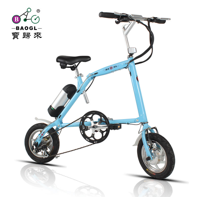 Lithium battery electric bicycle folding electric bicycle 12 mini cute-type electric bicycle electric power bicycle(China (Mainland))