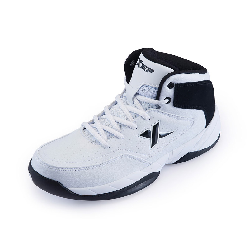 Xtep Men Basketball Shoes Breathable Outdoor Athletic Sports Shoes Anti-Slip Ankle Boots High Top Rubber Sneakers 986319129265