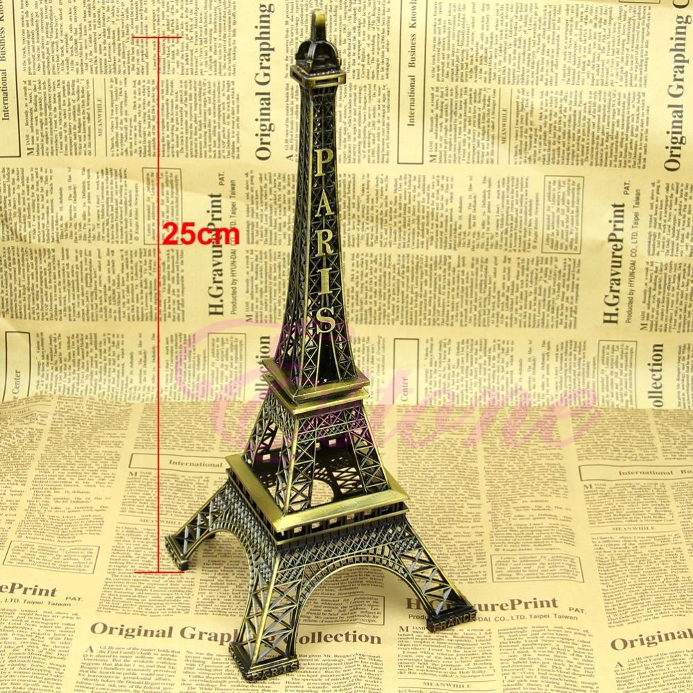 25CM Tower Eiffel Home Decoration Items Vintage Metallic Model Iron Creative Decorative Modern Artificial Photo Prop Crafts(China (Mainland))