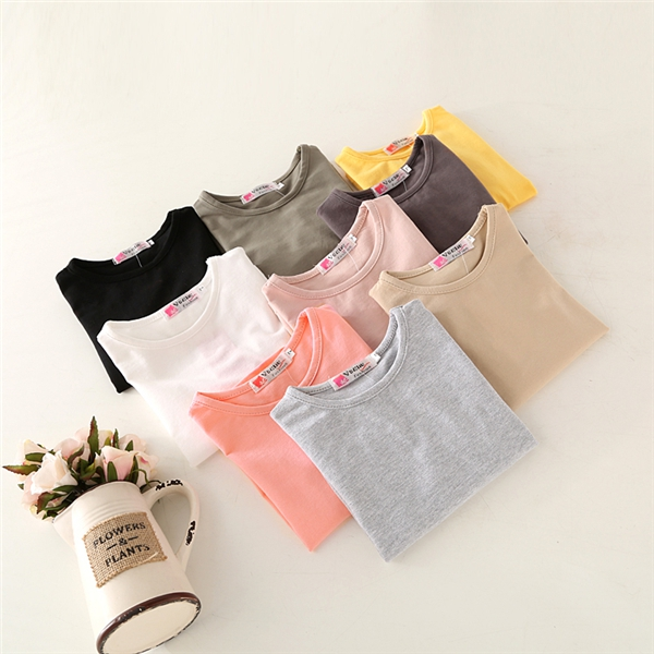 Children with the boys and girls long sleeved T shirt blouse T-shirt Korean new O B236 2016 spring