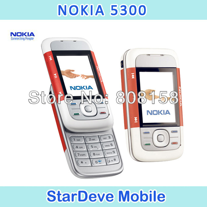 Nokia 5300 Original Unlock Cell Phone support Russian keyboard Russian menu Nokia mobilephones(China (Mainland))