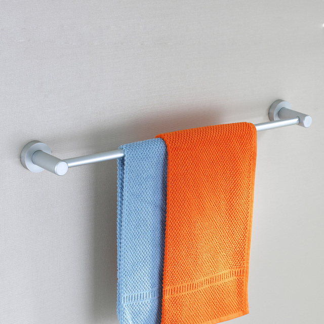 Free shipping aluminum single Towel bar Towel Rack hanging rod Bathroom Accessories wall mounted