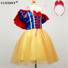 Buy Children Cosplay Dress Snow White Girl Princess Dress Halloween Party Costume Children Clothing Sets Kids Clothes Girls Dresses for $9.83 in AliExpress store