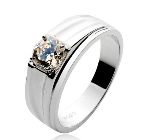 Retail&Wholesale 0.85ct Timeless love Rings jewellery For Men non-allergy 925 sterling silver synthetic diamond wedding ring(China (Mainland))