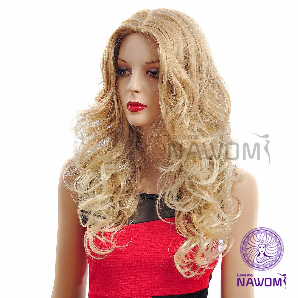 Long Curly Blonde Wig, Newest 2015 Kanekalon Natural Hair Wigs Women, - Nawomi store