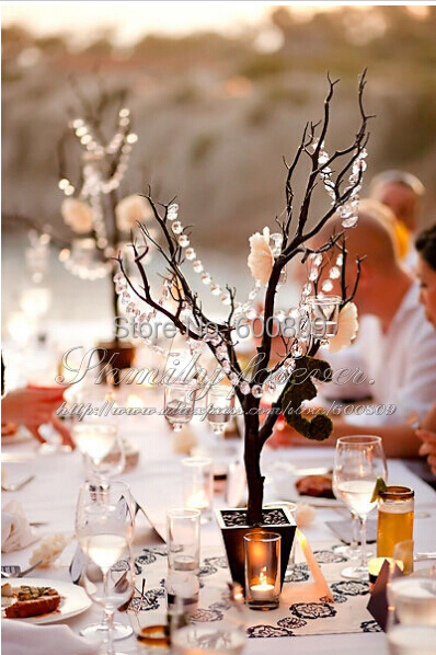 Free Shipping! 99ft X10MM Clear acrylic Garlands For Wedding Party tree Table Decorations(China (Mainland))