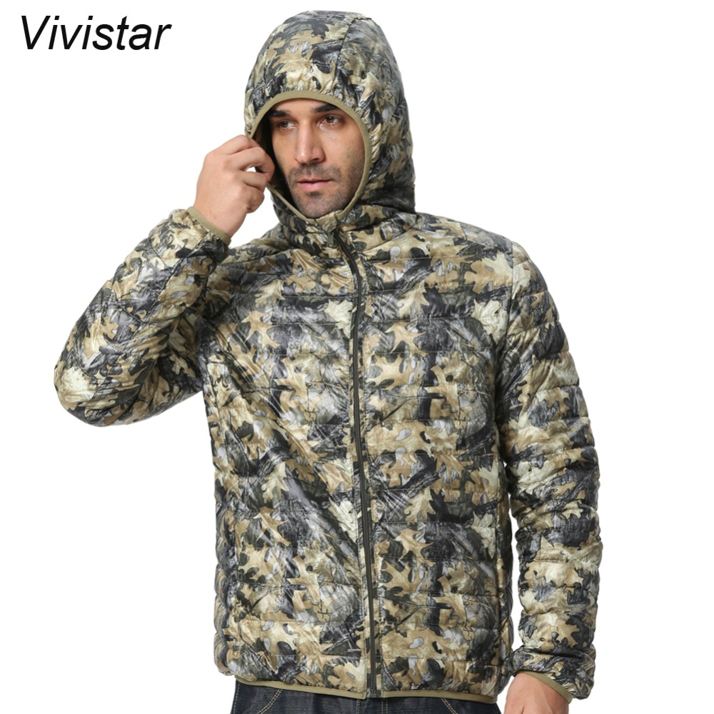 Men Hooded Camouflage Winter Down Jackets 2015 New Arrival Ultralight 90% Duck Snow Fashion Parkas Warm Jackets F1532-EU(China (Mainland))
