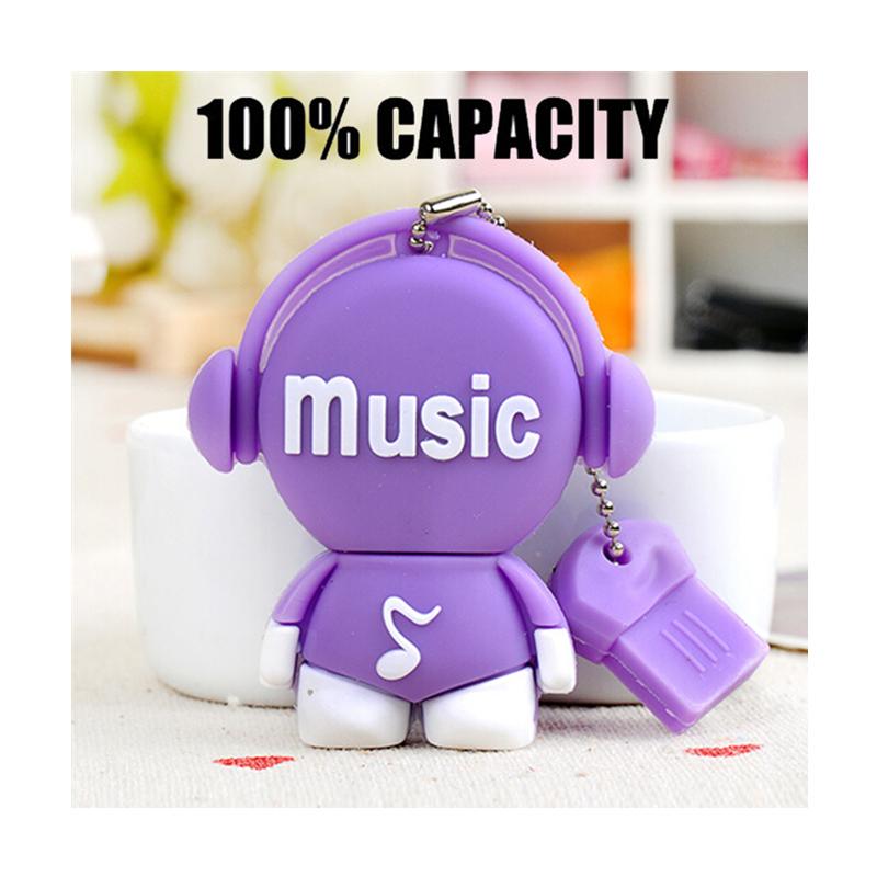 Cartoon Music Notation model usb flash drive 64gb usb2.0 pen drive 32gb u disk pendriver flash memory usb stick 16gb 8gb 4gb(China (Mainland))