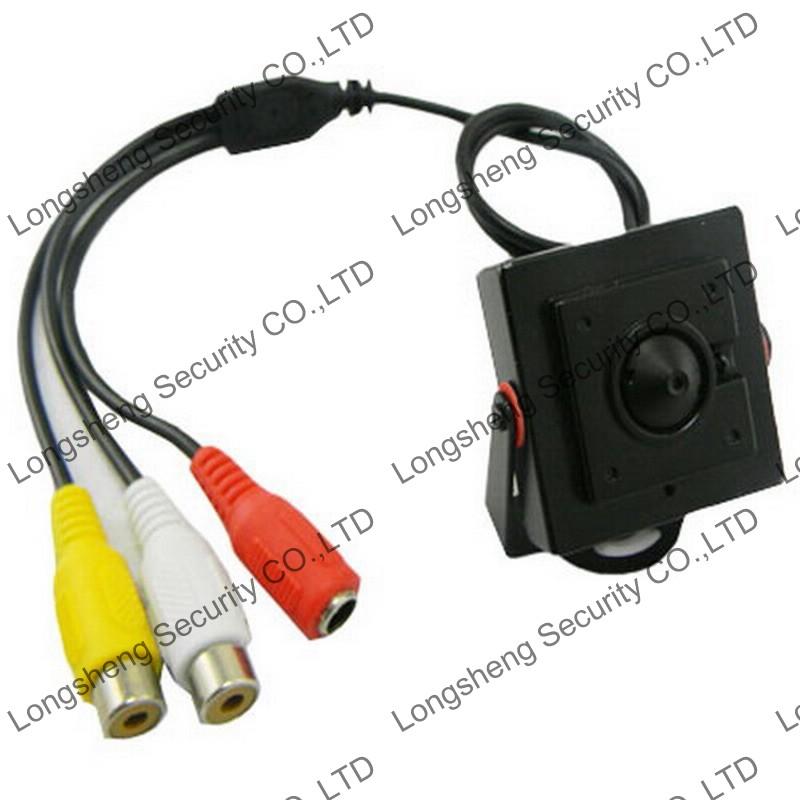 Mini HD CMOS 1200TVL 2.5mm Wide Angle Lens A/V CCTV Surveillance Camera with MIC