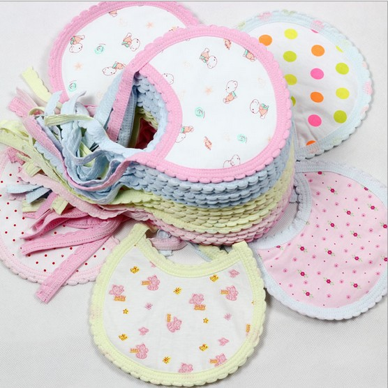 MY 10pcs 100% Cotton Baby Bib anise baby bibs(16.5*13cm) breast feeding cover breast feeding(China (Mainland))