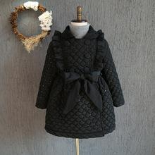 YNB 5 Pieces/lot children winter clothes girls princess coats high quality winter jacket children dress style jackets black coat(China (Mainland))