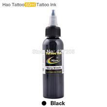 Хао Татуировки Профессиональные Татуировки Подачи Чернил 2 УНЦ. 60 мл/бутылка Черного Цвета Топ Пигмент для Боди-Арта Татуировки комплекты Поставки(China (Mainland))