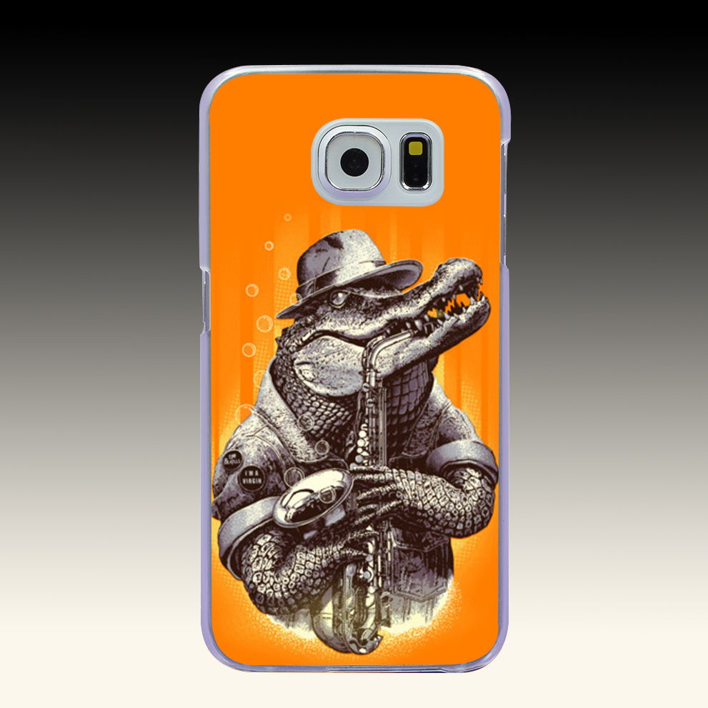 293O CROC ROCK Hard Transparent Phone Cases Cover for Galaxy S2 S3 S4 S5 & Mini S6 S7 & Edge Plus(China (Mainland))