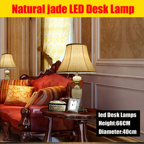 luxury Natural jade zinc alloy led desk lamp Modern Crystal Table Lamp Decoration Led Table Lamp For Bedroom Wedding Lamp(China (Mainland))