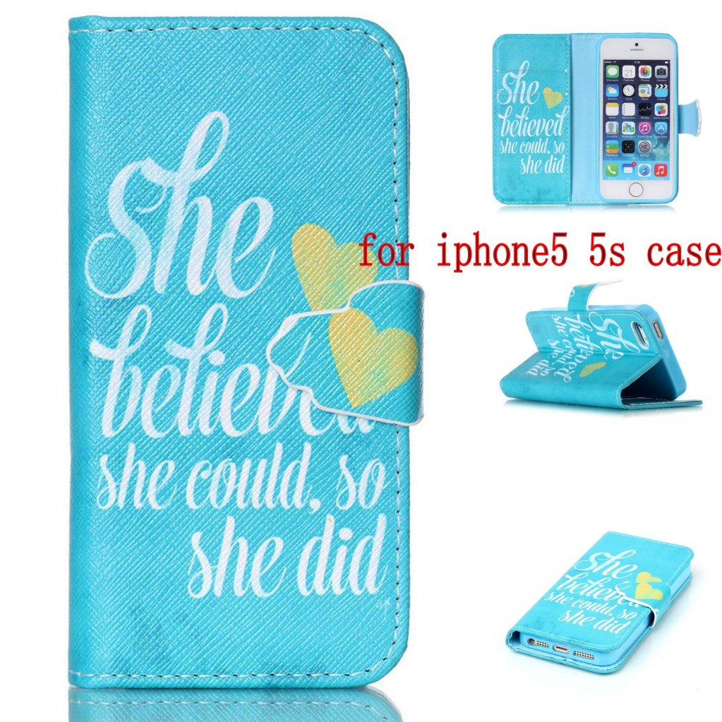 Fashion Retro Cartoon Book Style pu Leather Flip Phone Case Cover For Apple iPhone se 5S 5 5g Wallet Card Slot & Stand i5(China (Mainland))