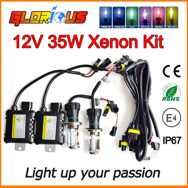 Slim 35W HID xeon Kit H4 bixenon H/L Beam Xenon Light HB2 9003 9004 9007 9008 H13 high low lamp Car HID Bi Xenon H4 H/L(China (Mainland))