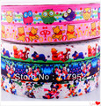 22mm Grosgrain Ribbon Bow Printed Cartoon Animals DIY Craft Appliques