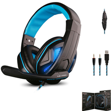 Brand OVANN X2-PRO Over-ear Gaming earphone Three Plug LED Light Gaming Headset Mic for LOL Gamer/Laptop Computer Games