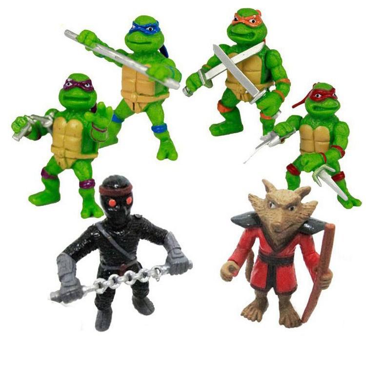 Free Shipping New Teenage mutant ninja turtles tmnt toys 6pcs/lot action figure Chilren toys Figure tmnt Toy Model the boys Gift(China (Mainland))