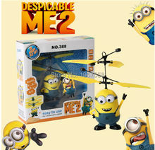 13cm hot Remote Control RC Helicopter Induction Flying Despicable lovely Minion Quadcopter Drone Drone Kids Toys VS Fairy Doll