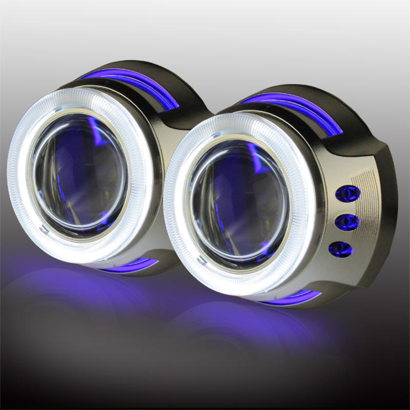 12D Double angel eye ring-bixenon projector lens light hid xenon kit + Devil eyes