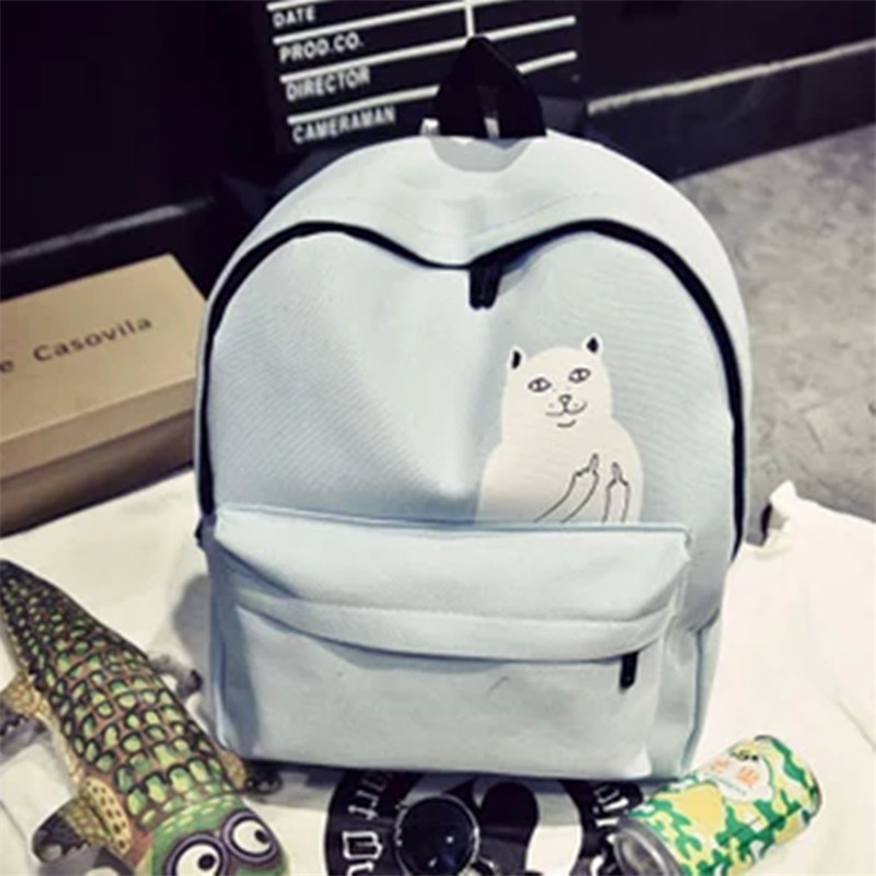 New lovely little cat casual canvas backpacks students school bag fresh Mori Girl style girls backpacks bag pack school for girl<br><br>Aliexpress